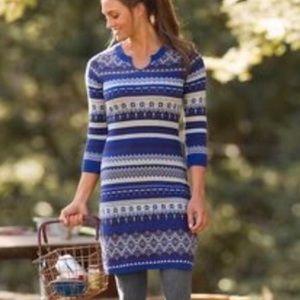 Athleta fara fair isle Nordic sweater dress